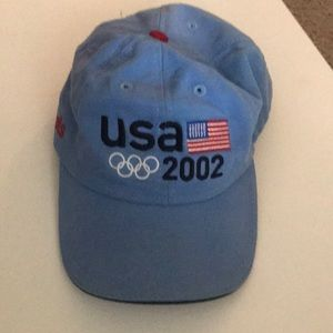 Vintage 2002 USA Olympic roots strap back hat
